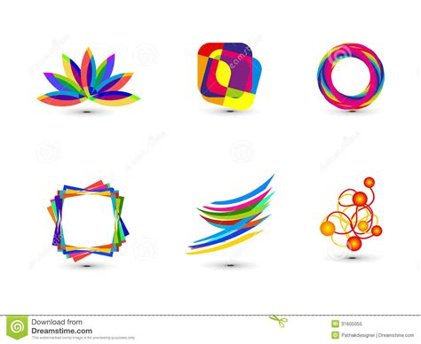 abstract icon stock image image 35579161 abstract colorful business icon template royalty free