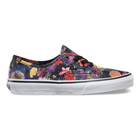 Vans Authentic Abstract Black True White galaxy floral authentic shop womens shoes at vans