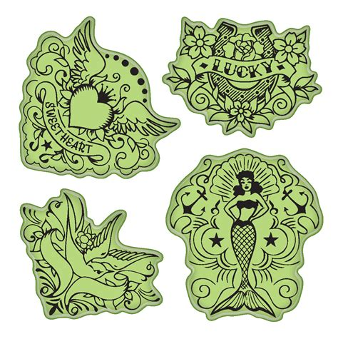 tattoo paper joannes inkadinkado sting gear cling rubber st vintage