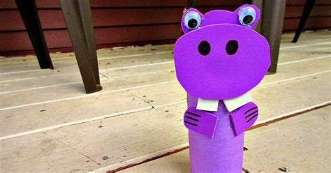 Toilet Paper Roll Crafts For Toddlers - hippopotamus zoo animal toilet paper roll crafts for