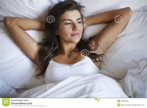 woman in bed beautiful woman in bed stock photo image 49581964