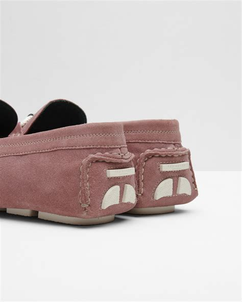 ted baker suede loafers ted baker braided trim suede driving loafers in pink for