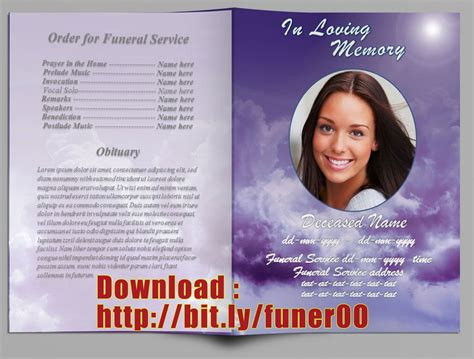 free funeral template website resume cover letter