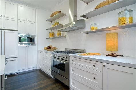 White Backsplash Kitchen by Add Sleek Shine To Your Kitchen With Stainless Steel Shelves