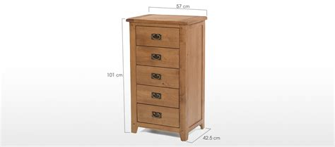 5 drawer chest of drawers rustic oak 5 drawer tall chest of drawers quercus living