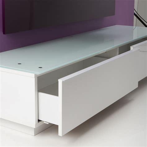 Meuble Tv Bas Design 170 cm Pretty Blanc   Exclusive   Mobuler