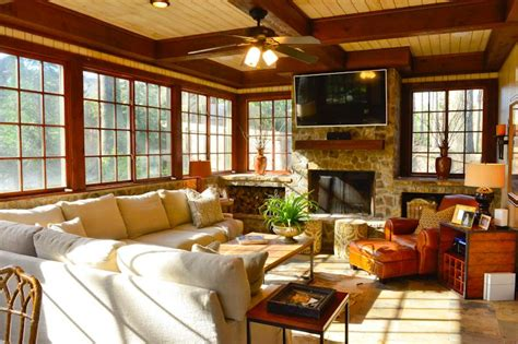 Furnished Sunrooms Quarters Rustic Buckhead Cottage