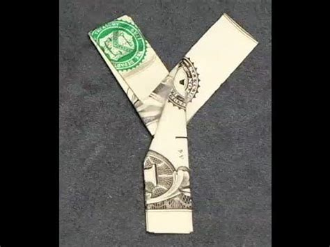 Money Origami Letters - fold origami dollar bill alphabet letter y gifts