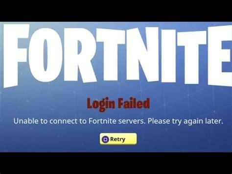 fortnite login fortnite 10 update 1 22 ps4 logging in fail