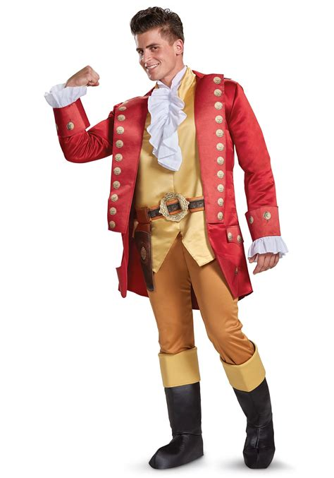 and the beast costume and the beast gaston deluxe costume for