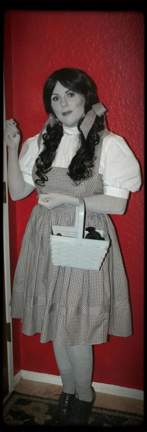 Oz Dres Mickey Whiite dorothy wizard of oz costume greyscale black and white all hallows