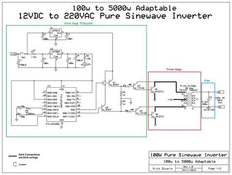 berbagi ilmu rangkaian inverter 12v dc to 220v ac 100 adaptable 12vdc 220vac pure sinewave inverter all