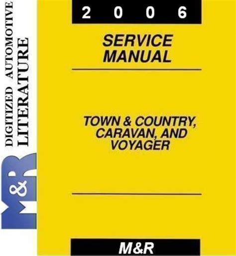 car engine repair manual 2003 chrysler voyager electronic valve timing 2006 caravan grand caravan by dodge service manual download ma