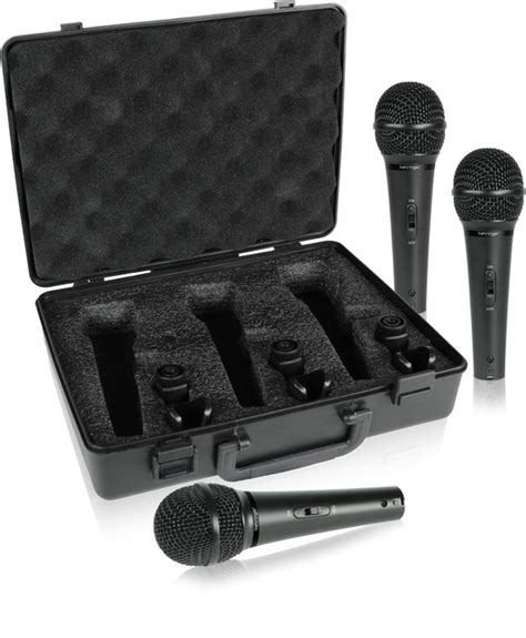 Mic Behringer Ultravoice Xm1800s 3 Cardioid Vocal And I Diskon behringer xm1800s dynamic microphone set dj city