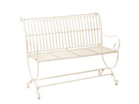 white wrought iron bench vintage style garden bench fleur de lis design wrought