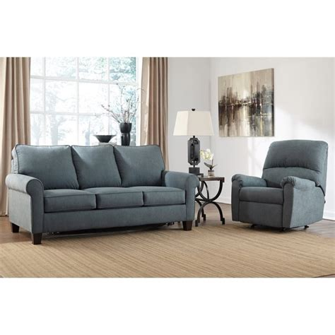 denim sofa sleeper ashley zeth 2 piece fabric full size sleeper sofa set in