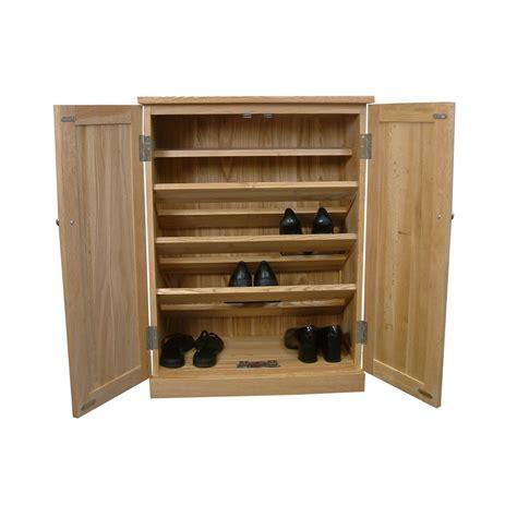 shoe storage oak shoe storage cupboard mobel oak cor20a