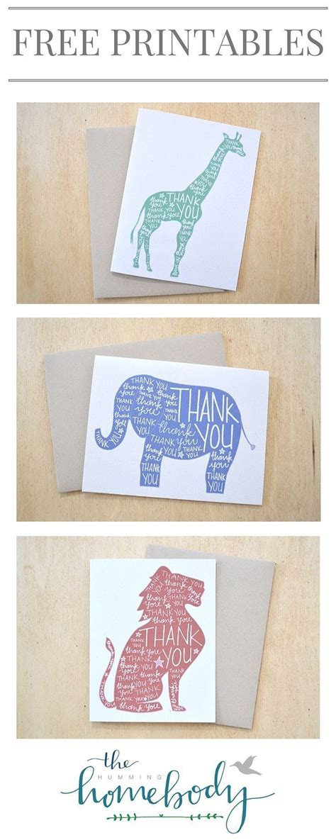 printable animal thank you cards 26 best images about printables on pinterest printable