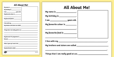 all about frames new all about me writing frame new