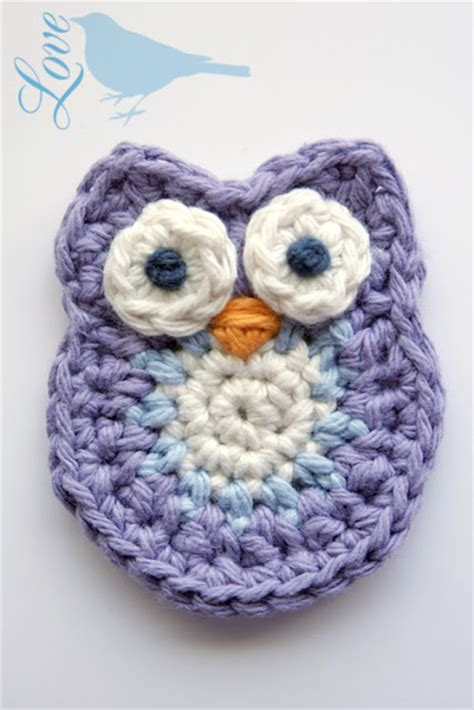 crochet owl motif pattern free crochet a day 9 crochet animal appliqu 233 s make and takes
