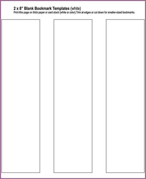 free blank bookmark templates to print bookmark template designproposalexle