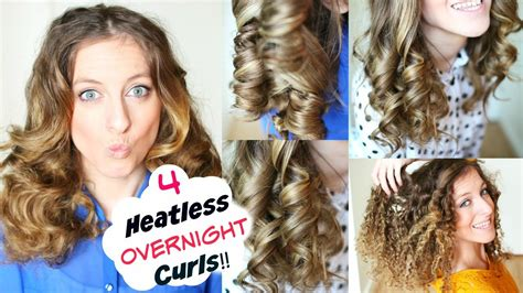 4 overnight no heat curls overnight heatless curl