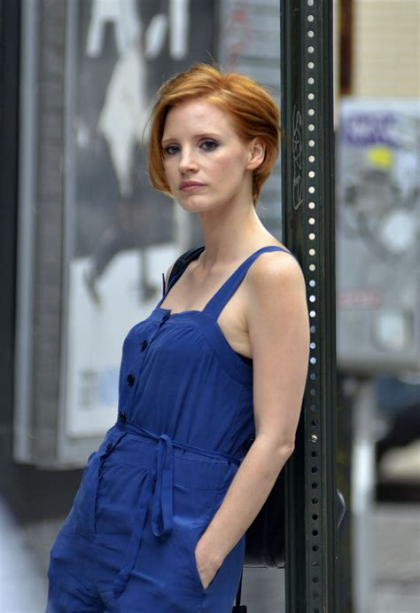when dis jessica robertson cut her hair jessica chastain chops it all off see her new short