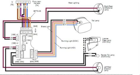 softail rear light wiring diagram wiring diagram with
