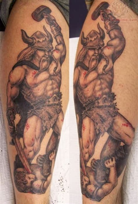 viking tattoo process viking warrior tattoo on leg tattoo s pinterest