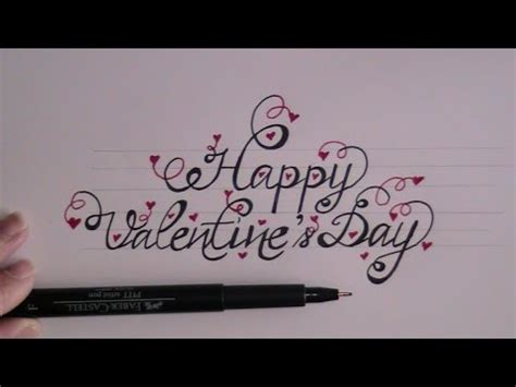 happy valentines day fancy writing how to write in cursive fancy letters happy valentines