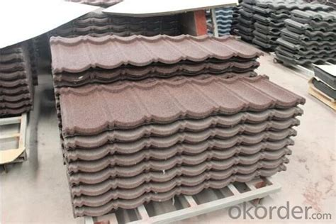 buy decorative water proof stone coated metal roofing
