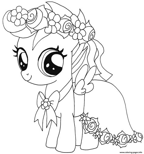 little baby coloring pages baby scootaloo my little pony coloring pages printable