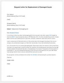 Request Goods Letter Request Letter For Replacement Of Damaged Goods Word Document Templates