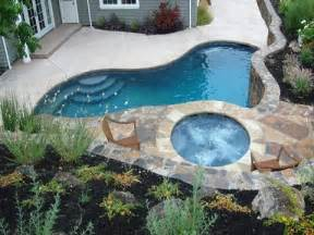 Backyard Pools Spas 270 Best Small Inground Pool Spa Ideas Images On