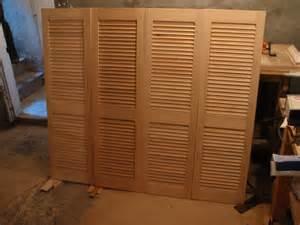 Wood Louvered Bifold Closet Doors Bi Fold Louvered Closet Doors Buffalo Wood Craft
