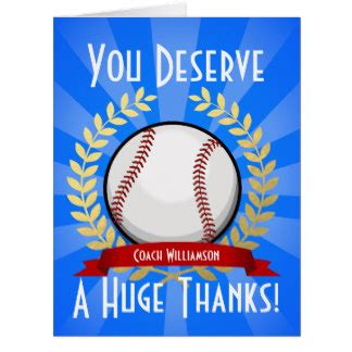Baseball Thank You Card Template by Baseball Thank You Cards Zazzle