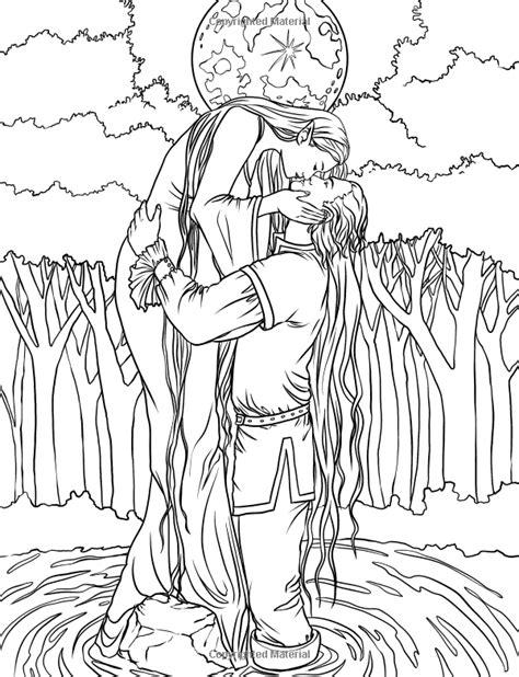 elf magic coloring pages artist selina fenech fantasy myth mythical mystical legend