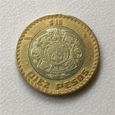 imagenes de monedas mayas moneda de 10 pesos 2007 grafia invertida 999 00 en
