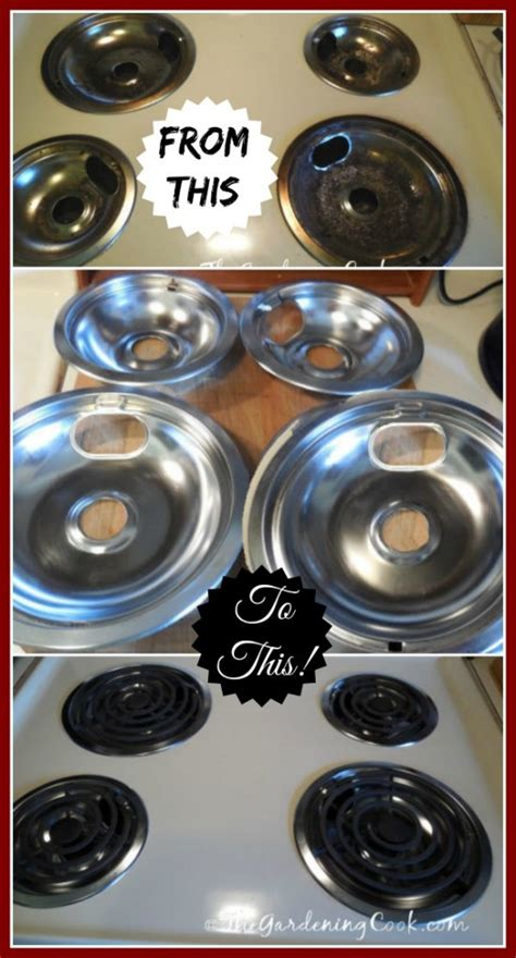 Kitchen Stove Drip Pans by Drip Pan And Burner Cleaning Using Household Ammonia The