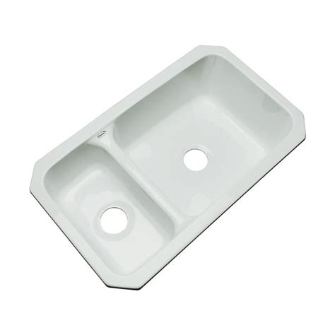 acrylic undermount kitchen sinks shop dekor windsor 33 in x 19 in sterling silver double