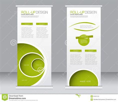 Roll Up Banner Stand Template Abstract Background For Design Cartoon Vector Cartoondealer Com Standing Banner Design Template