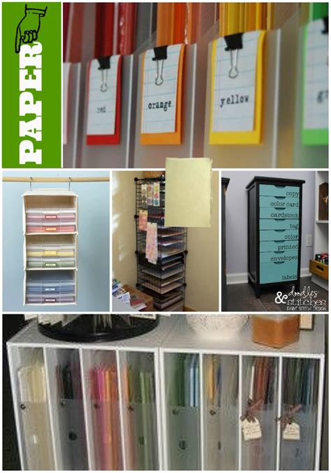 Craft Paper Storage Ideas - just 1 tip create an inventory binder via www