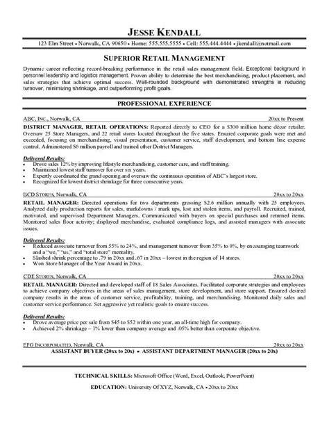 retail job description resume retail supervisor job description