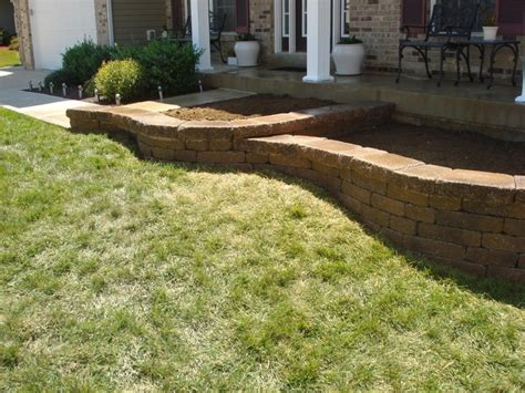 front yard retaining wall front yard retaining wall o fallon mo for the home