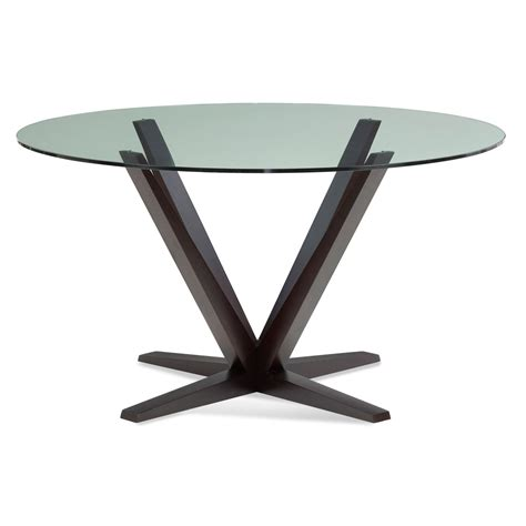 48 inch tables for sale aura 48 inch chocolate glass top dining table saloom