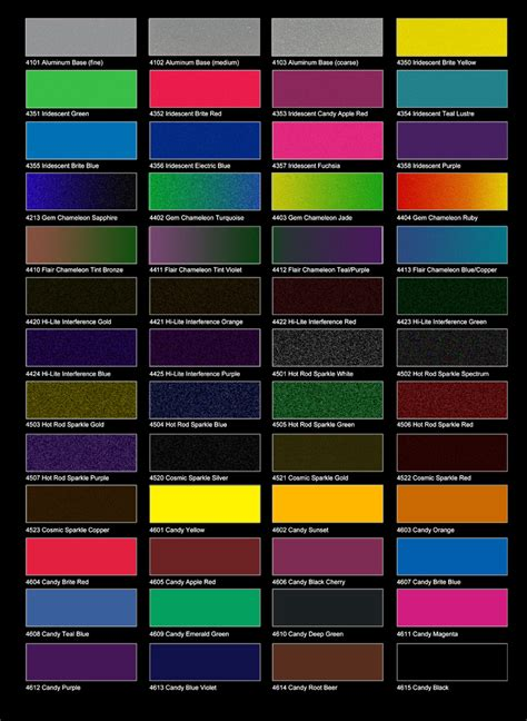 paint selection maaco paint colors chart car paint colors ayucar com