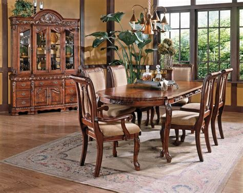 Dining Room Sets Norcross Ga Cherry Finish Classic Dining Table W Options