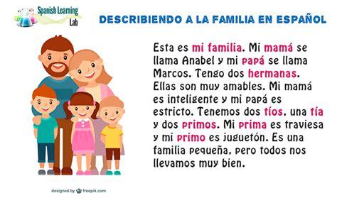 preguntas en ingles y español personales la familia espacio espa 241 ol