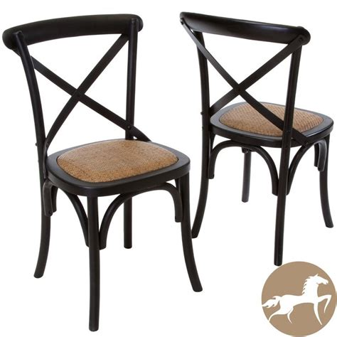 Cross Back Dining Chairs Christopher Home Smith Black Cross Back Dining Chairs Set Of