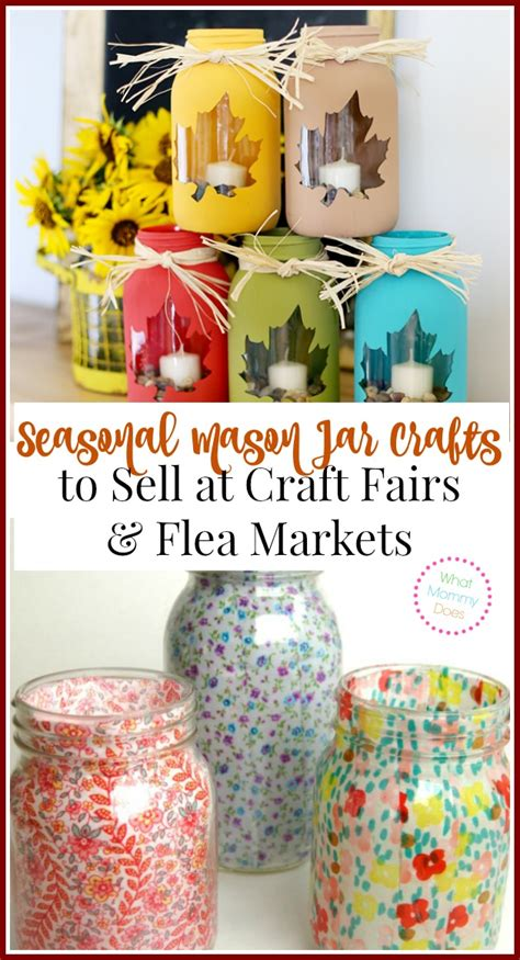 Handmade Items That Sell At Flea Markets - 13 jar crafts to make sell for what